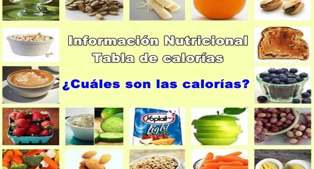 Todo sobre las calor as y tabla nutricional atopedegym for Tabla de alimentacion para tilapia roja