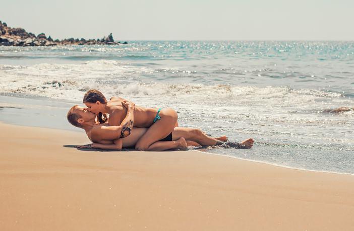 Sexo en la playa y pérdida de peso