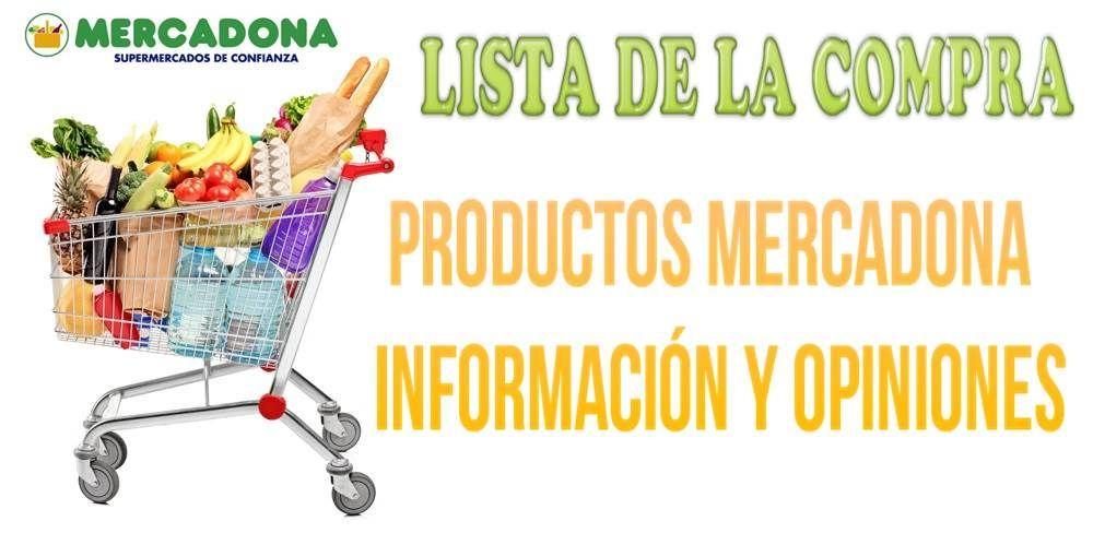 Lista de la compra de productos mercadona