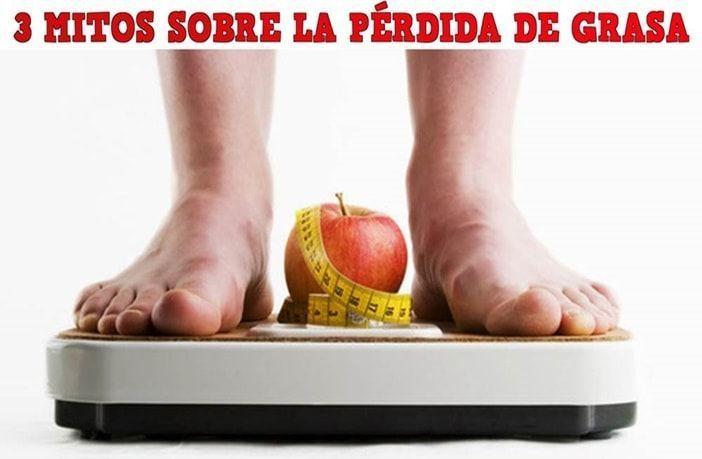 Mitos sobre la pérdida de grasa