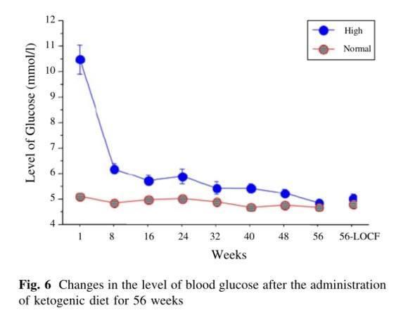disminuir los niveles de azúcar en sangre con dieta cetogénica