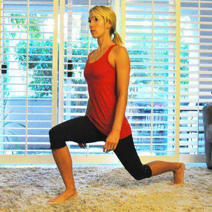 Entrenamiento cardiovascular ejercicio estocadas-inversas