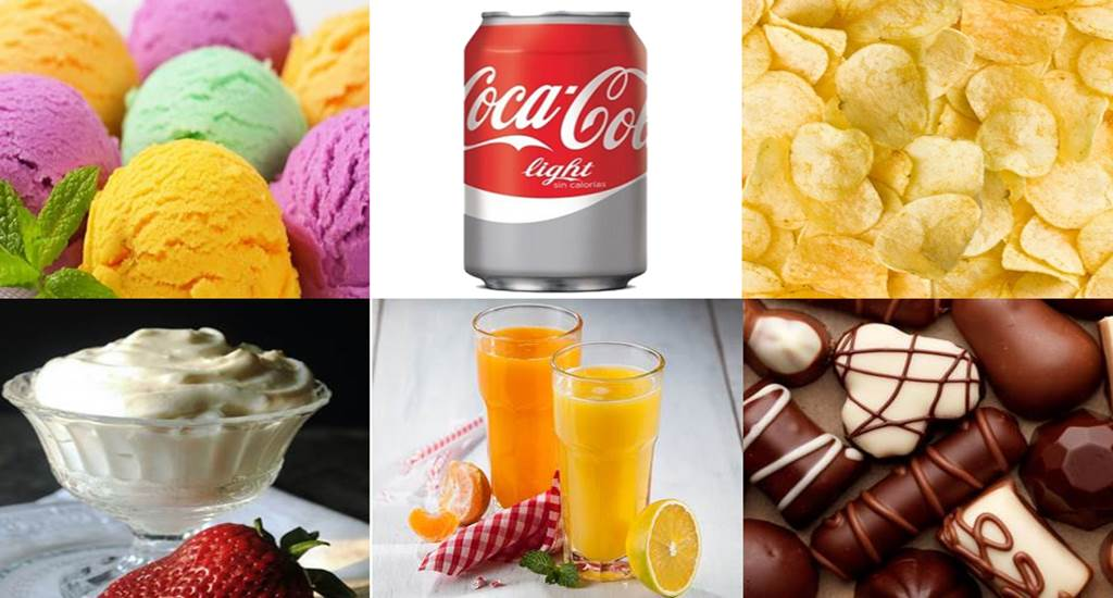 Alimentos bajos en grasa y sin azúcar