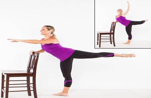 Ejercicio arabesque danza