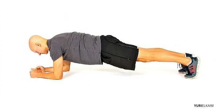 Tablón ejercicio para abdominal