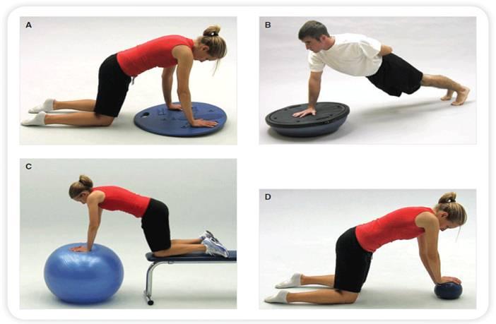 Algunos tipos de ejercicios de propiocepción