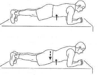 Ejercicio tabla para abdominales