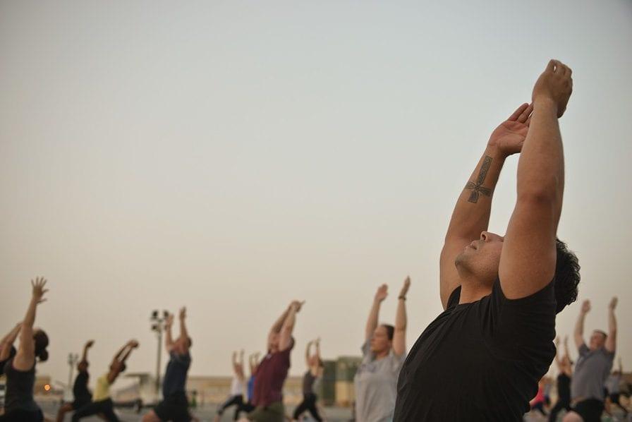 relajación en el yoga