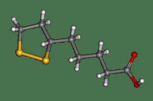 Modelo de ácido alfa lipoico.
