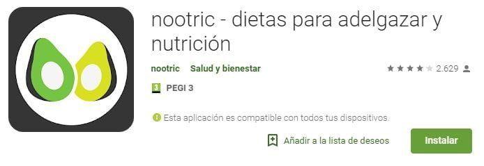 nootric dietas