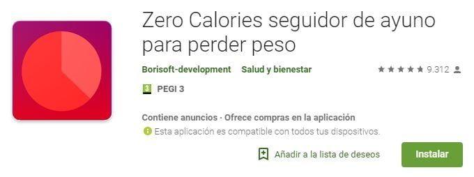 Zero calorías app
