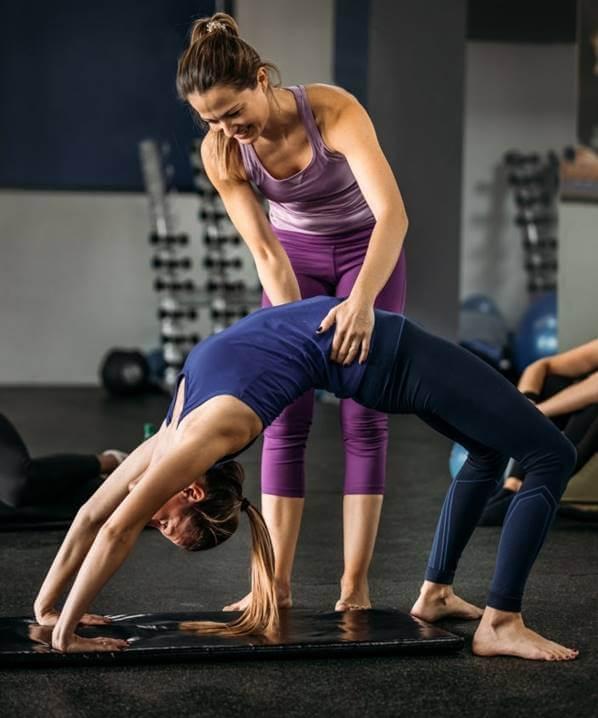 ejercicio de puente para glúteos