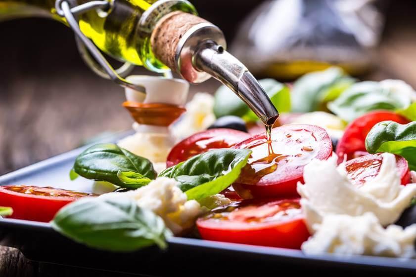 Alinear ensalada de verduras